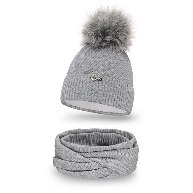 5de28a2e0 Dámska čiapka a nákrčník 142 šedý, Farba šedá 142 - Dámske čiapky ...