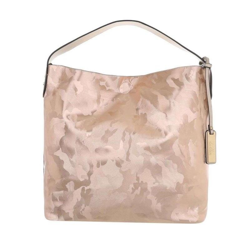 Dámska kabelka na rameno 5071 ružovo zlatá, ružová