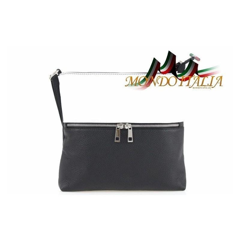 17b2f3e77d Dámska kožená kabelka 147 čierna + biela MADE IN ITALY 147 - Kabelky ...
