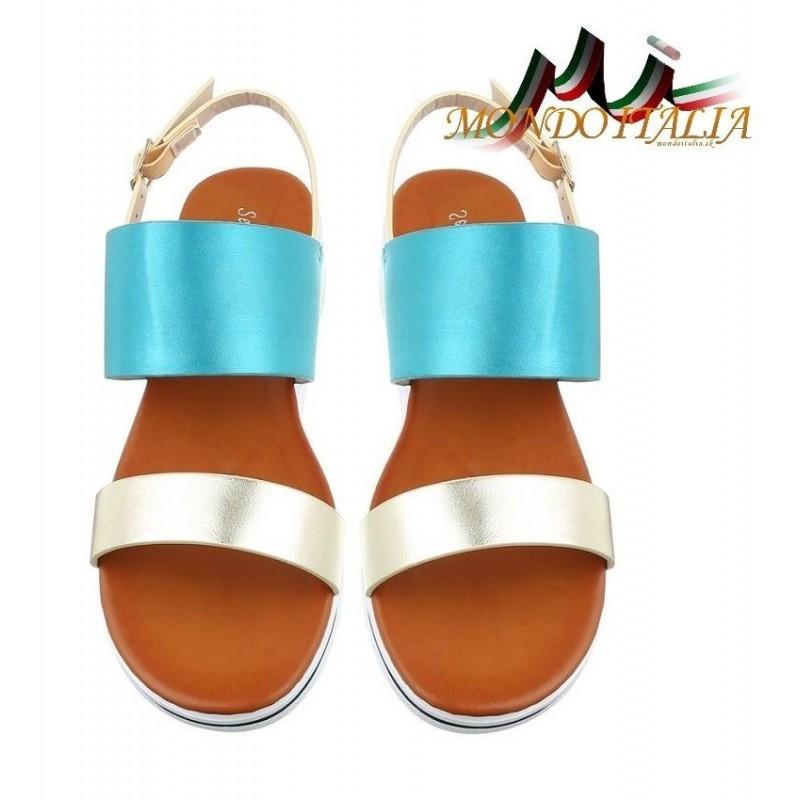 e979f58f6ce8 Dámske sandále 136 tyrkysové 136 - Sandále trendové - Locca.sk
