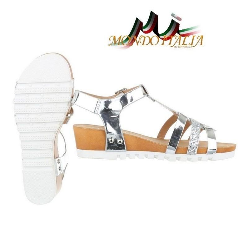 Dámske sandále 137 strieborné 137 - Sandále trendové - Locca.sk 3a2b558c0bd