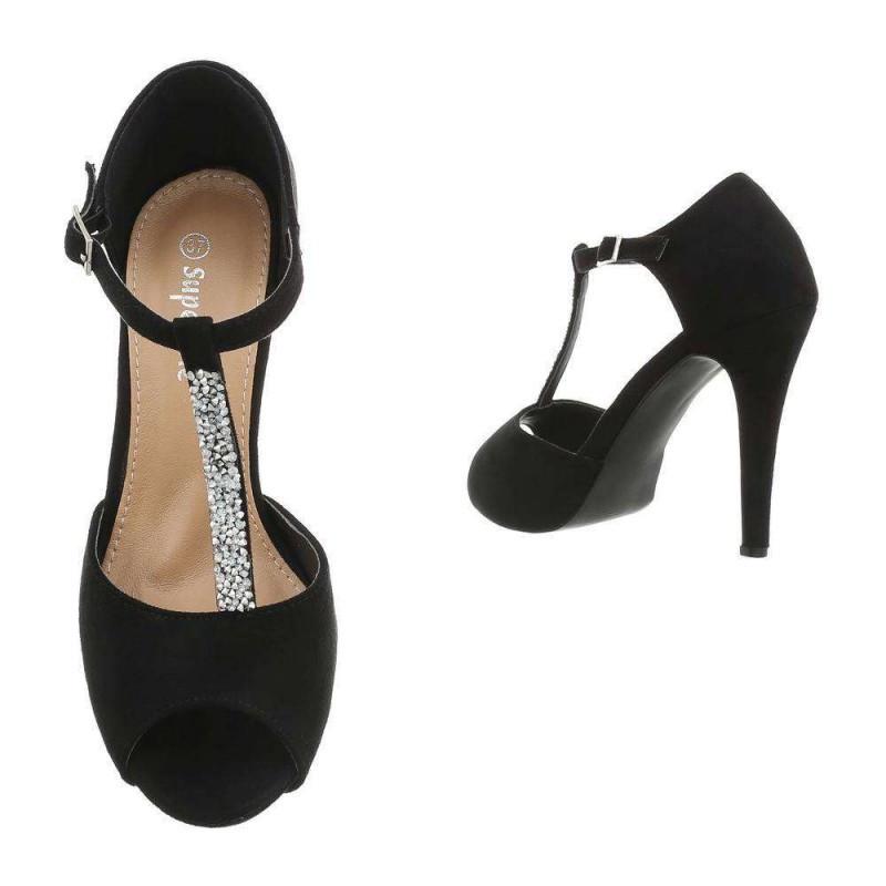Dámske sandále na platforme čierne - Sandále na platforme - Locca.sk 654b1c90c6a
