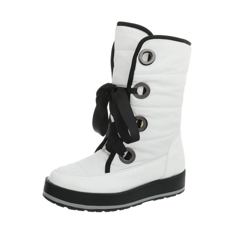 Dámske snehule na šnurovanie biele 266 65d07c8607