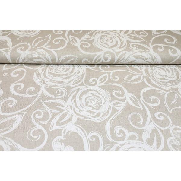 Dekoračná látka biele povinky, šírka 140 cm Biela