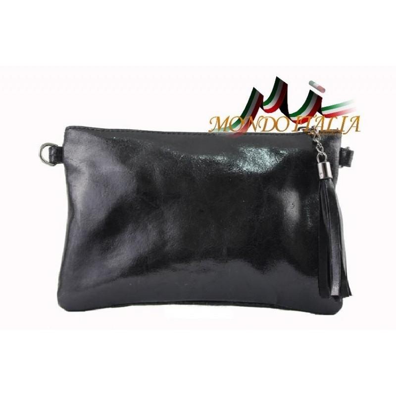 128836c9dd Kožená kabelka 750 čierna MADE IN ITALY 750 - Spoločenské kabelky ...