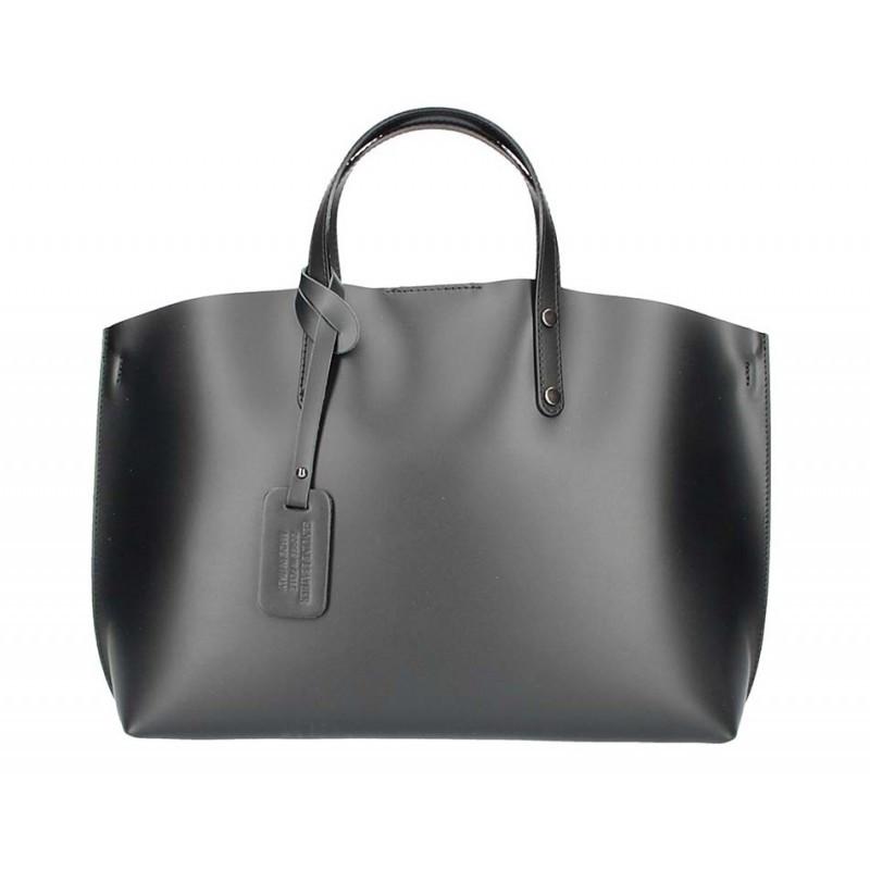 7cd366bb52 Kožená kabelka do ruky 5304 čierna