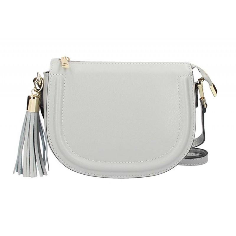 Kožená kabelka na rameno 5300 šedá MADE IN ITALY, šedá