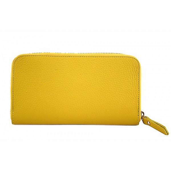 Kožená peňaženka 820B žltá, Žltá