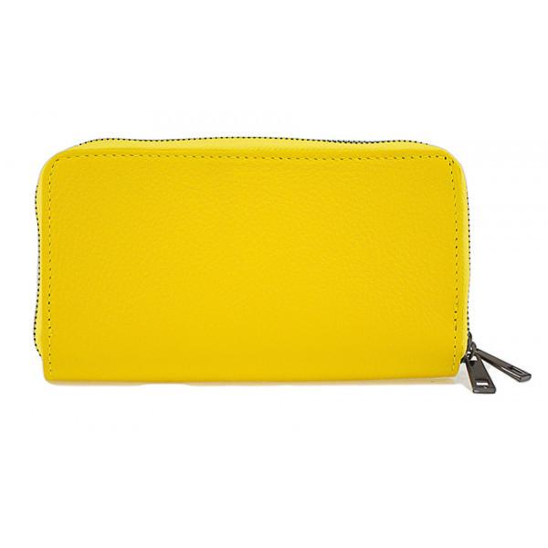 Kožená peňaženka 823 žltá, Žltá