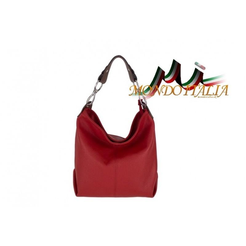 47592012fc Kožená talianska kabelka na rameno 816 červená MADE IN ITALY ...