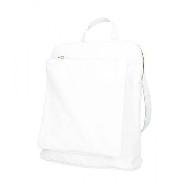 Kožený batoh MI899 biely Made in Italy, Biela