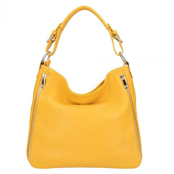 Okrová kožená kabelka na rameno 5310, Okrová