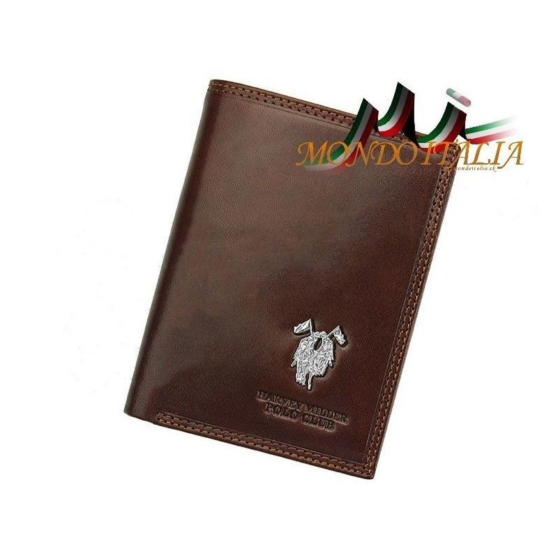 Pánska kožená peňaženka HARVEY MILLER POLO CLUB 491 hnedá HARVEY MILLER  POLO CLUB 491 ec37b024199