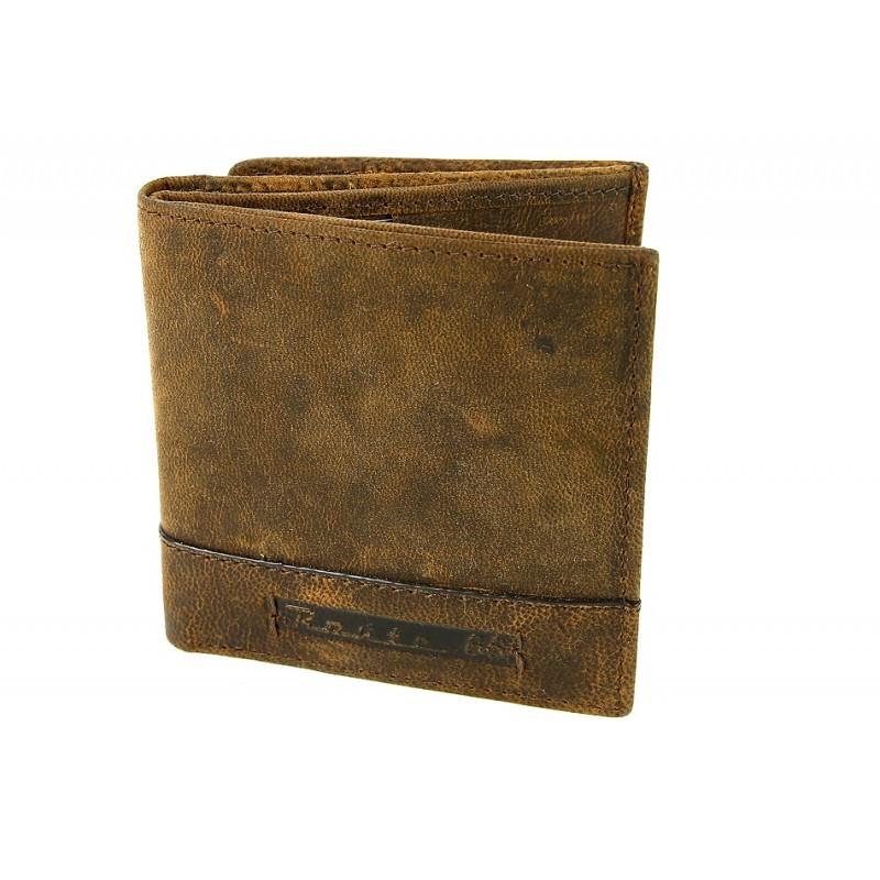 Pánska kožená peňaženka ROUTE 66 hnedá, hnedá
