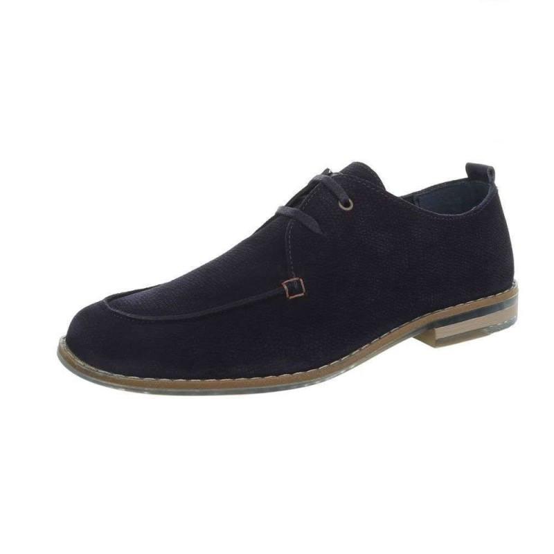 b553f3f79f9f Pánska kožená spoločenská obuv 1272 modrá