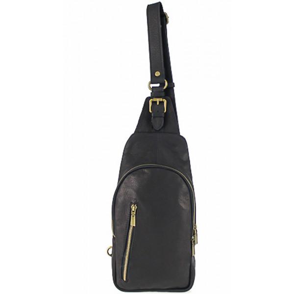 Pánska kožená taška cez rameno 990 čierna, Čierna