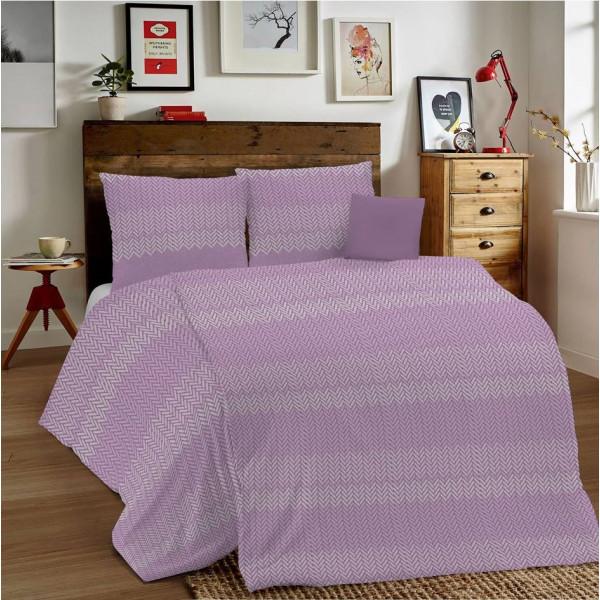 Posteľné obliečky MIG001 Intreccio ružové Made in Italy, Ružová, 1x80x80/1x140x200 cm