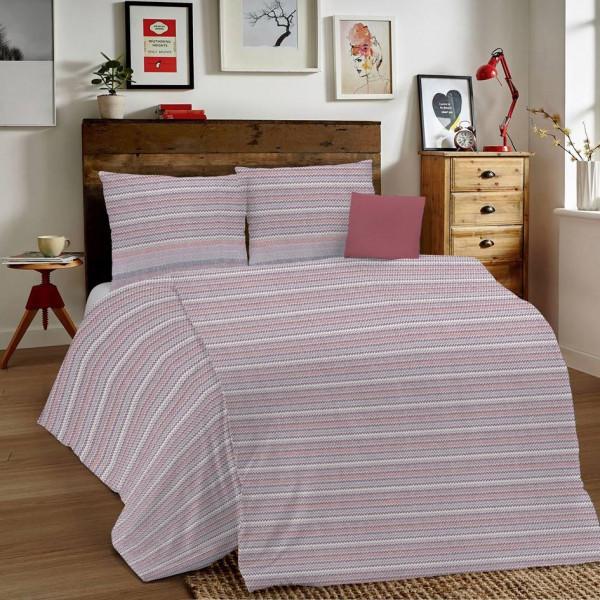 Posteľné obliečky MIG001 Zigzag ružové Made in Italy, Ružová, 1x80x80/1x140x200 cm