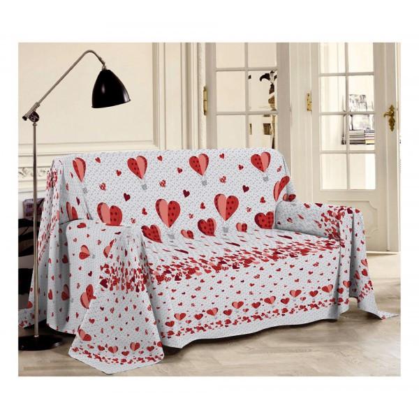 Prikrývka na gauč Balóny červená Made in Italy Červená 180 x 290 cm