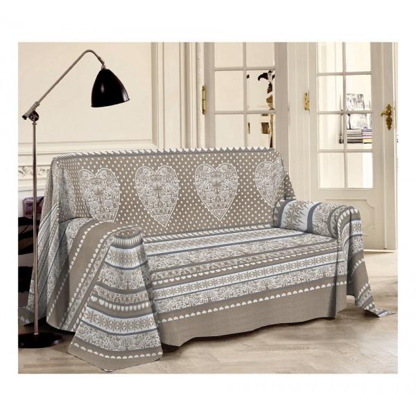 Prikrývka na gauč Tirol béžová Béžová 180 x 290 cm