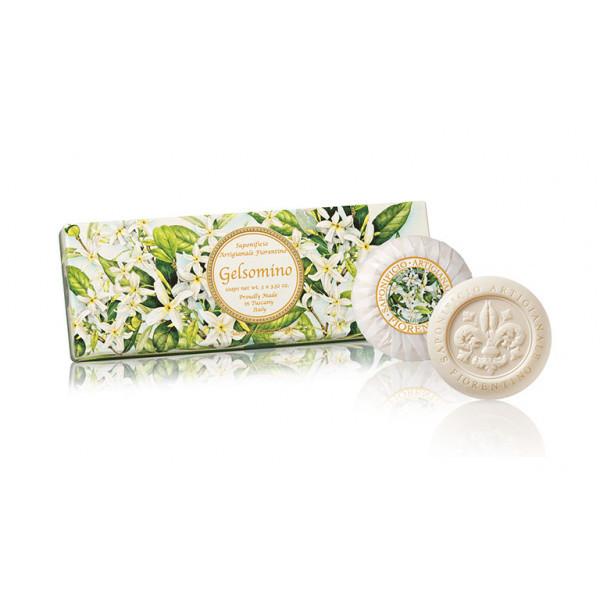 SA Fiorentino Prírodné tuhé mydlo Jazmín 3 x 100 g