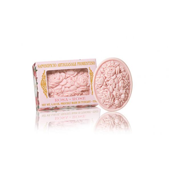 SA Fiorentino Prírodné tuhé mydlo Ruža 125 g