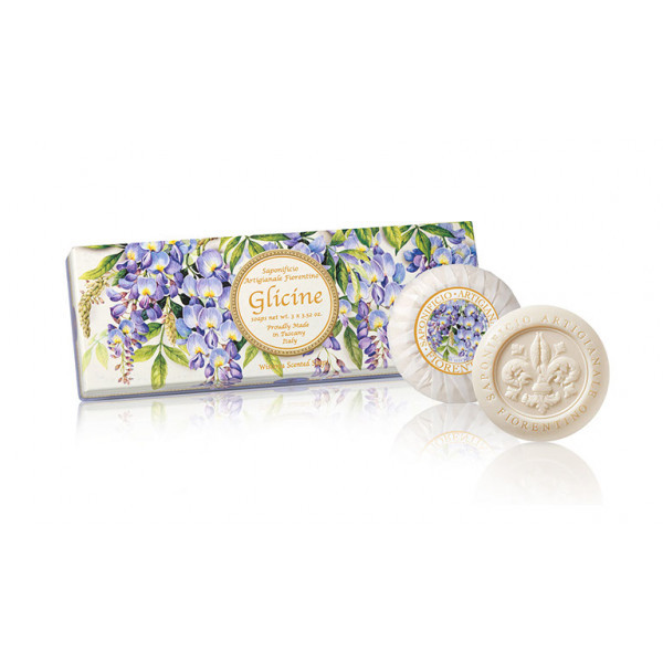 SA Fiorentino Prírodné tuhé mydlo Vistéria 3 x 100 g