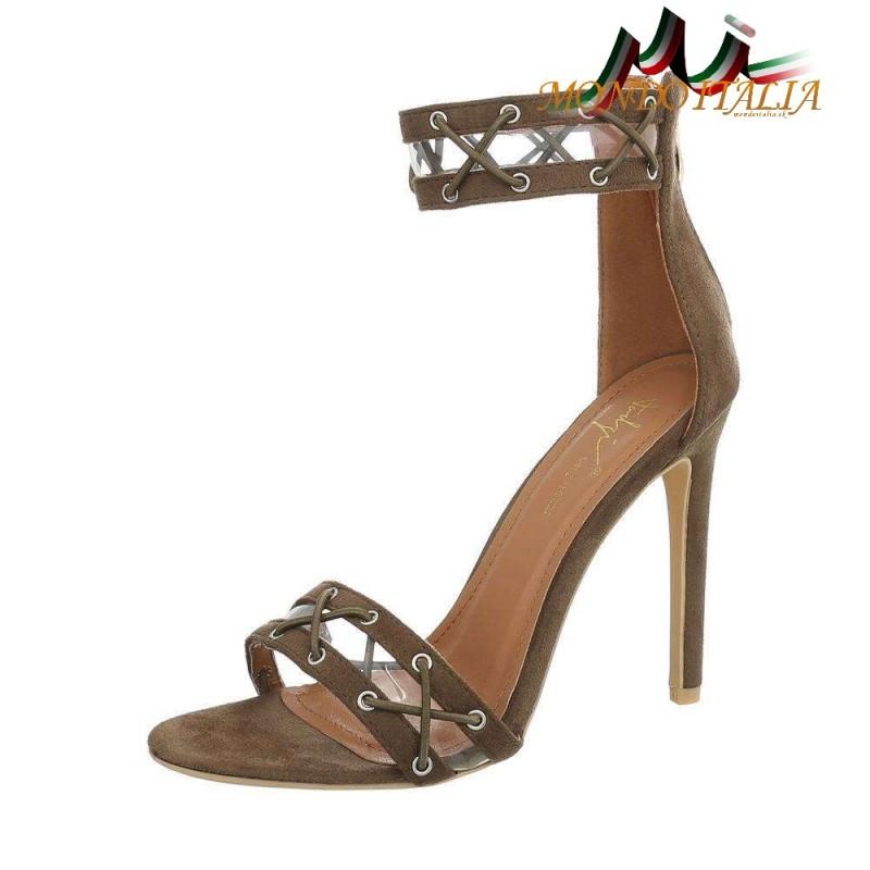 40006c6eb9a4 Sandále 1090 vojensky hnedo-zelené SERGIO TODZI - Sandále trendové ...
