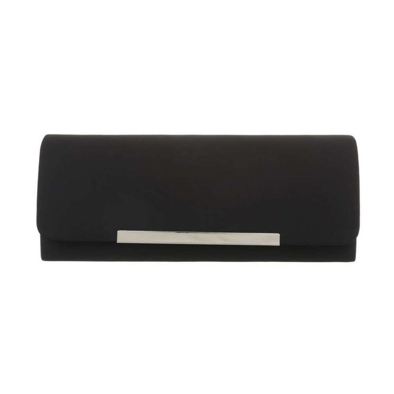 Spoločenská kabelka 399A čierna, Farba čierna Michelle Moon TA-ZL463-silver