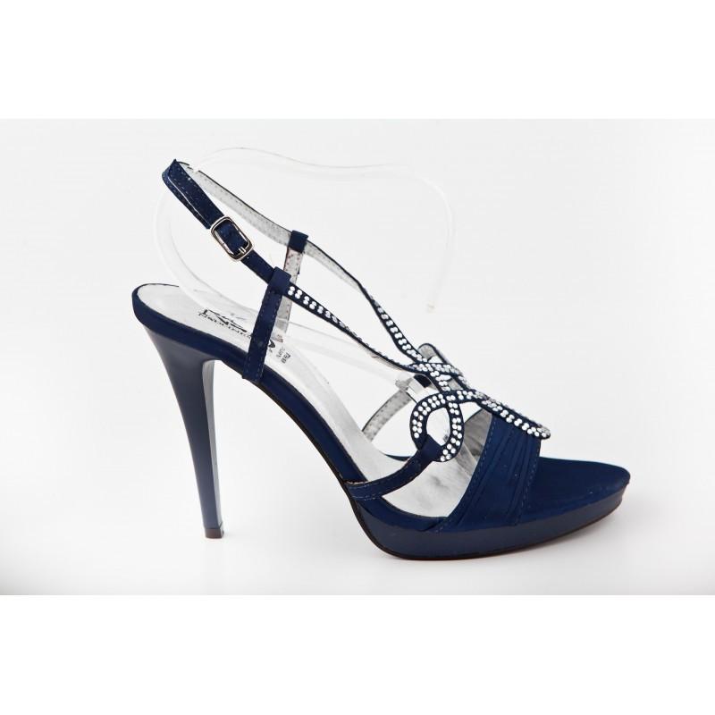 b1b5da8454 SPOLOČENSKÉ SANDÁLE modré 339 Nedline Shoes 339 - Sandále trendové ...