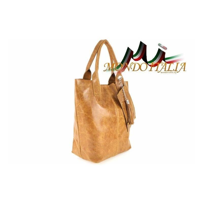 Štýlová talianska kožená kabelka 148 koňak MADE IN ITALY 148 ... 20018dd73cb