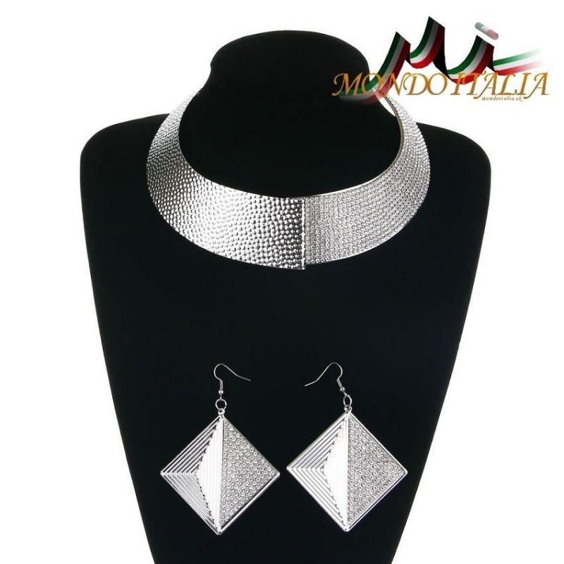 103285e56 Súprava náhrdelník + náušnice 1196 strieborné 1196 - Súpravy šperkov ...