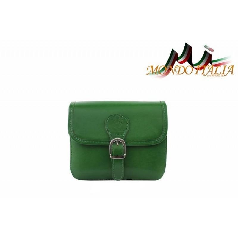 Talianska kožená crossbody kabelka 398 zelená MADE IN ITALY 398 ... ac1b3bdcba1