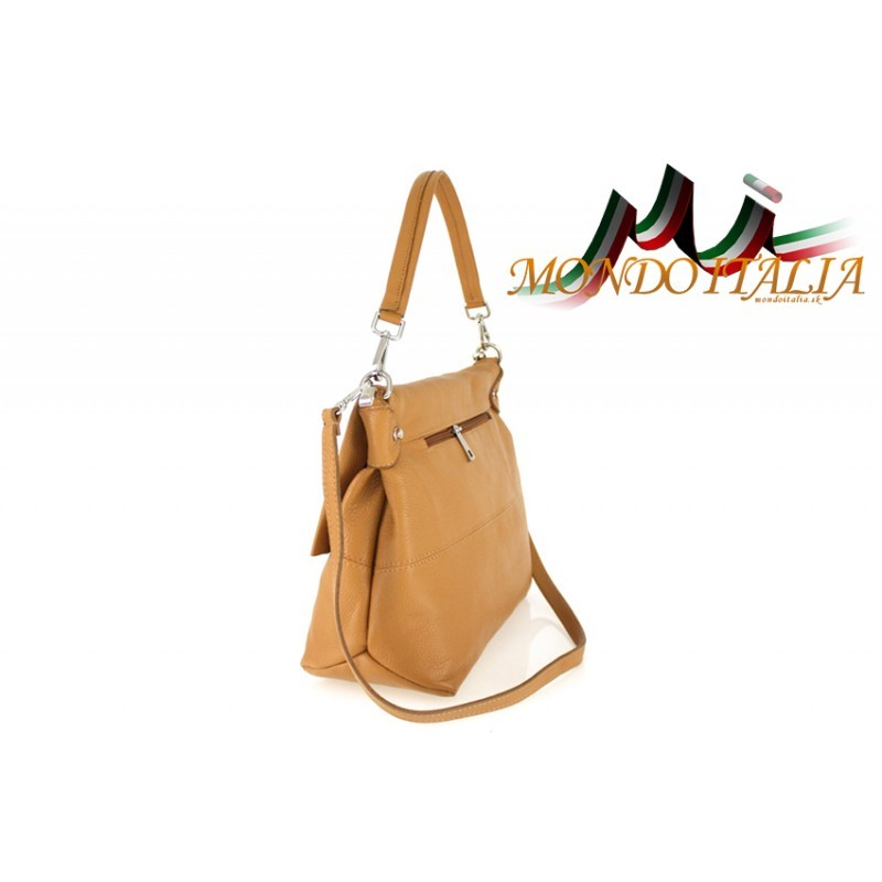 Talianska kožená kabelka 1195 koňak MADE IN ITALY - Talianske ... bf3f550eb0d