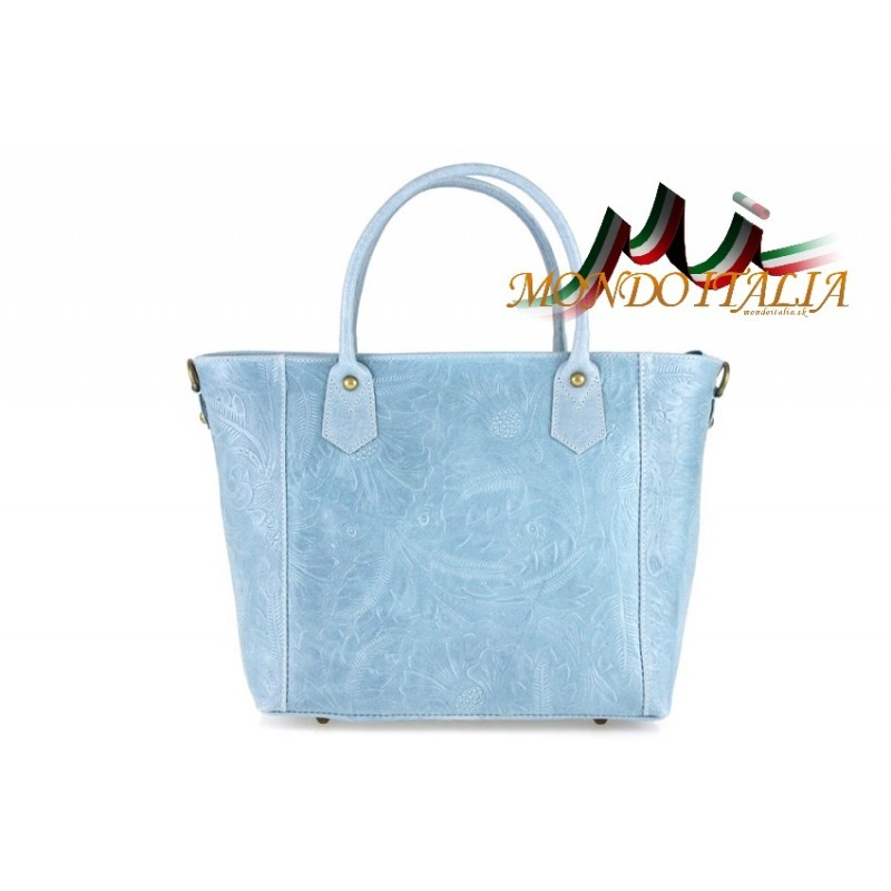 5ace4c5222 TALIANSKA KOŽENÁ KABELKA 405 nebesky modrá MADE IN ITALY - Talianske ...