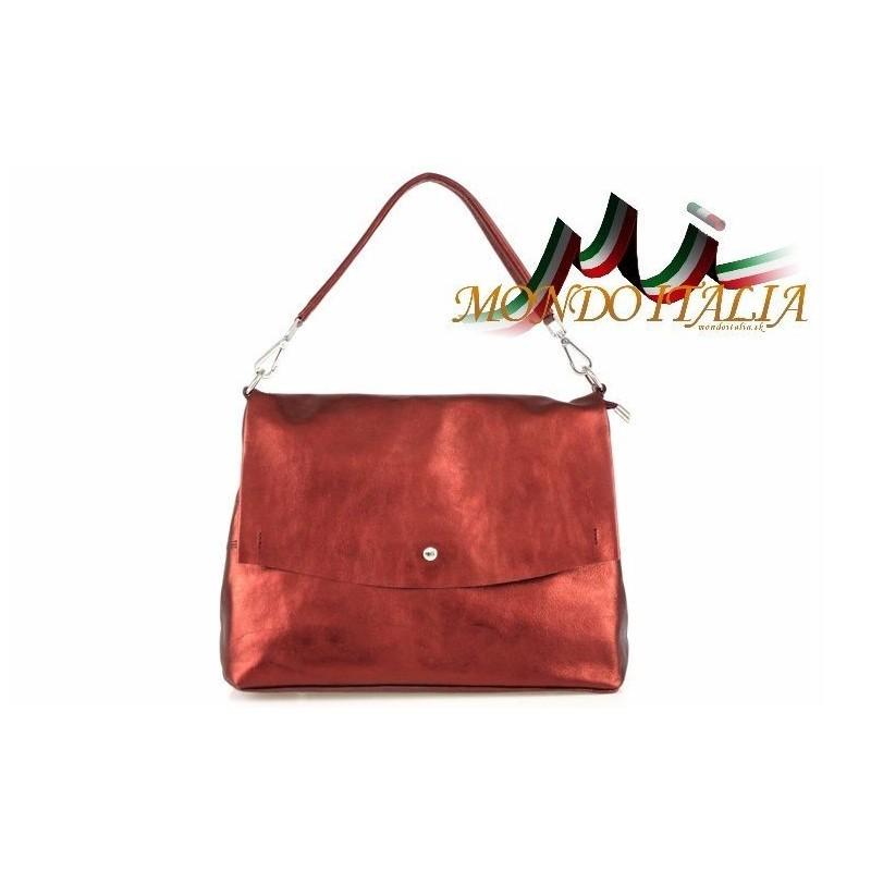 Talianska kožená kabelka 4301 červená MADE IN ITALY 4301 - Kožené ... 3c6a6d1305f