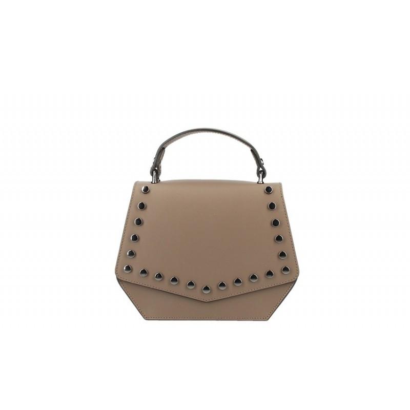 Talianska kožená kabelka 5101 tmavá šedohnedá MADE IN ITALY ... 932c83b0ce3