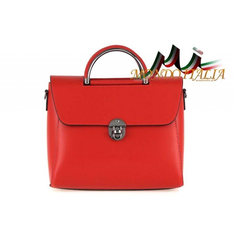 Talianska kožená kabelka 658 červená MADE IN ITALY - Talianske ... b9792305a53
