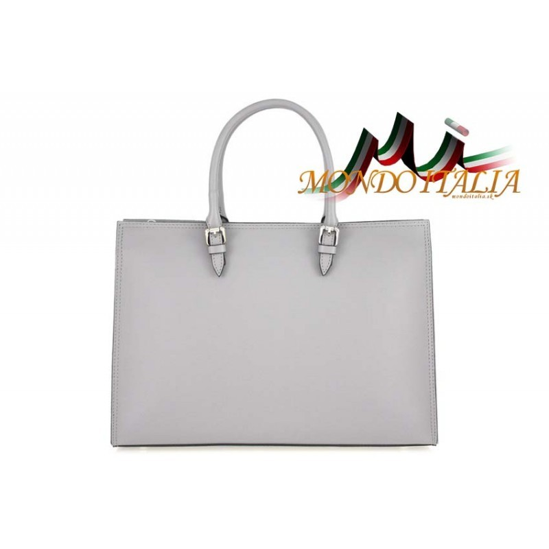 Talianska kožená kabelka 667 šedá MADE IN ITALY - Talianske kabelky ... 429eb66dacf