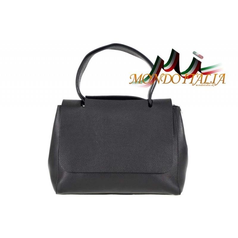 a15722c567 Talianska kožená kabelka 670 čierna MADE IN ITALY - Talianske ...