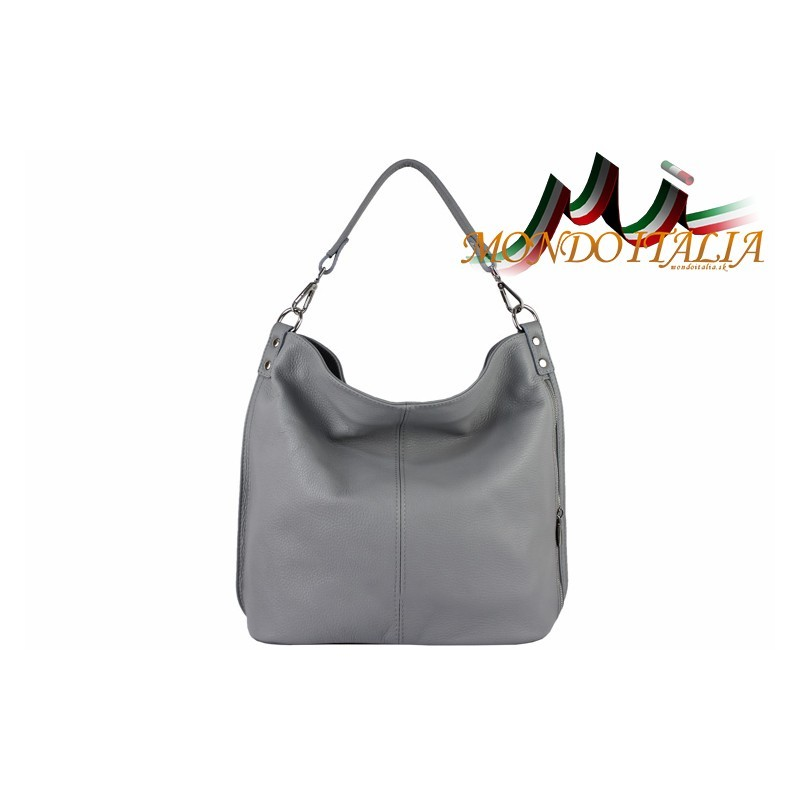 Talianska kožená kabelka 680 šedá MADE IN ITALY - Talianske kabelky ... f8e3a59af5a