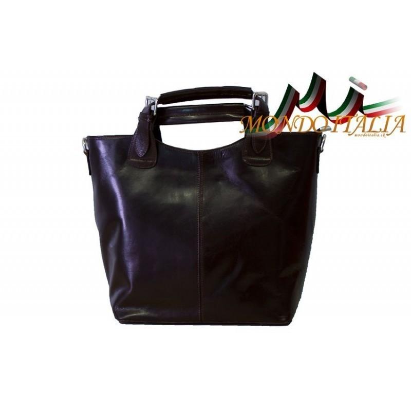 Talianska kožená kabelka 69 čierna MADE IN ITALY 69 - Trendové ... b4fdc21da34