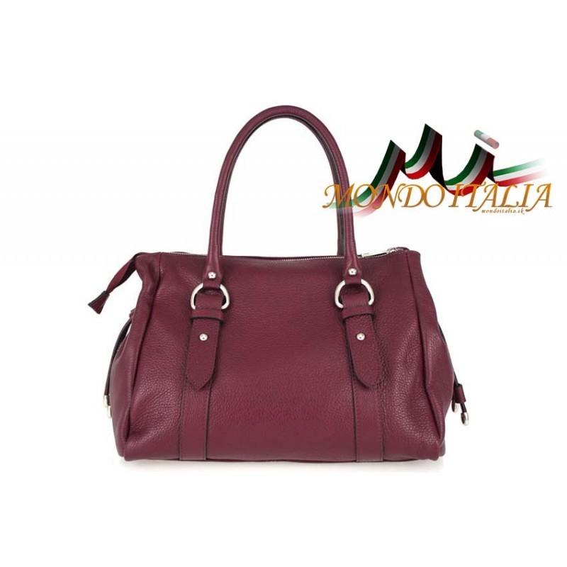 Talianska kožená kabelka 699 bordová MADE IN ITALY - Talianske ... 4df62bb0999