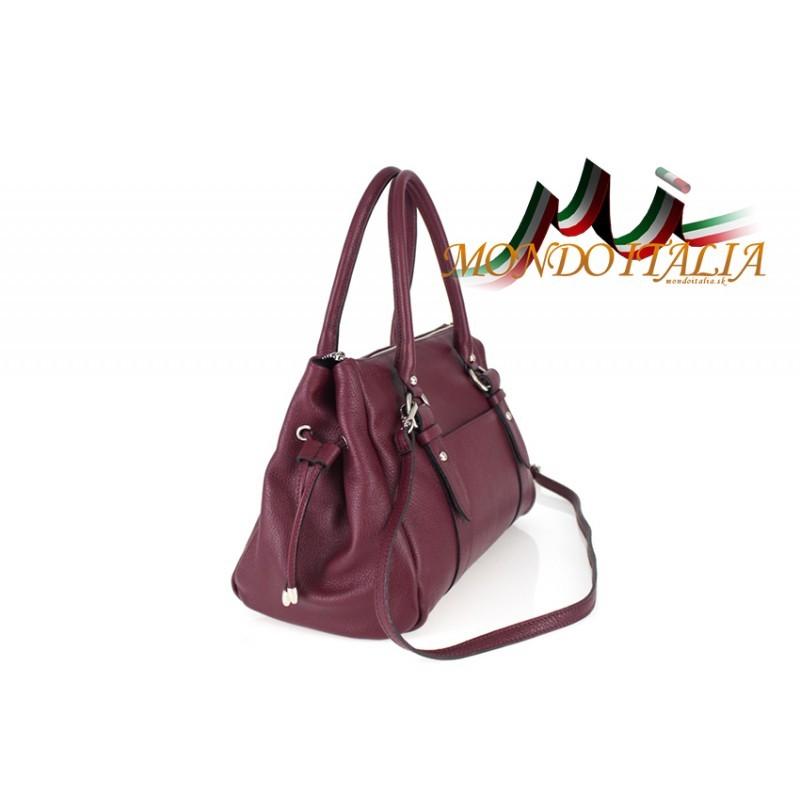 Talianska kožená kabelka 699 bordová MADE IN ITALY - Talianske ... 9155929e916