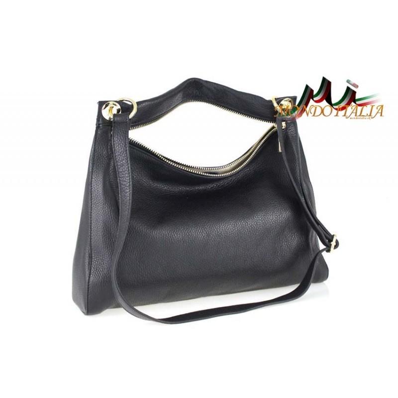 Talianska kožená kabelka 759 čierna MADE IN ITALY - Talianske ... f7b44d65df1
