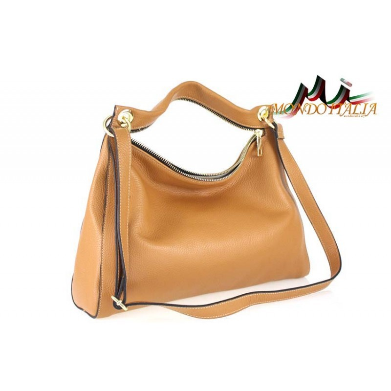 Talianska kožená kabelka 759 koňak MADE IN ITALY - Talianske kabelky ... 5e3351873f3