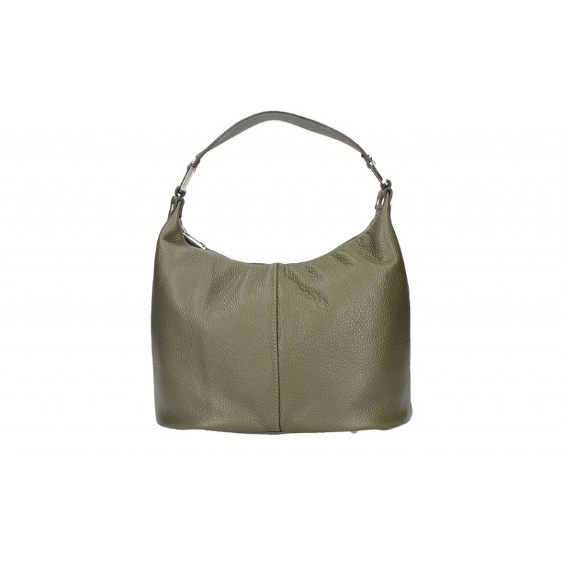 Talianska kožená kabelka 9011 vojenska zelená MADE IN ITALY 7fca83c552f