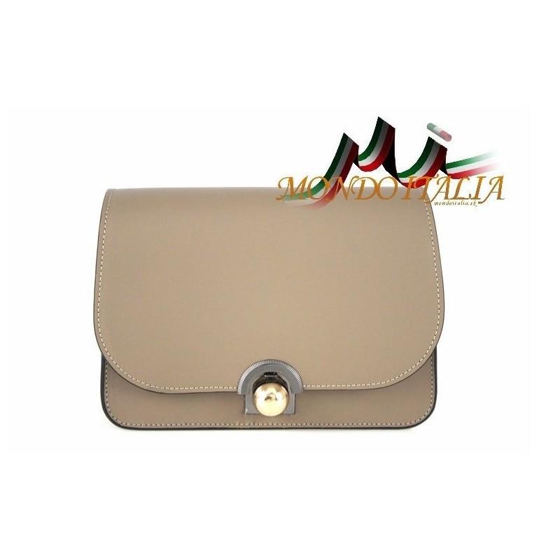 Talianska kožená kabelka 9666 šedohnedá MADE IN ITALY - Talianske ... 24073fd8b24