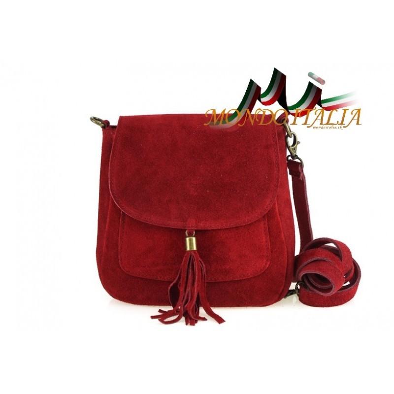 4762780011 Talianska kožená kabelka cez rameno 1147 bordová