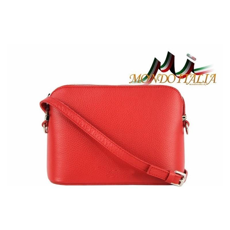 fe85ae7d7a Talianska kožená kabelka cez rameno 1310A červená MADE IN ITALY 1310A
